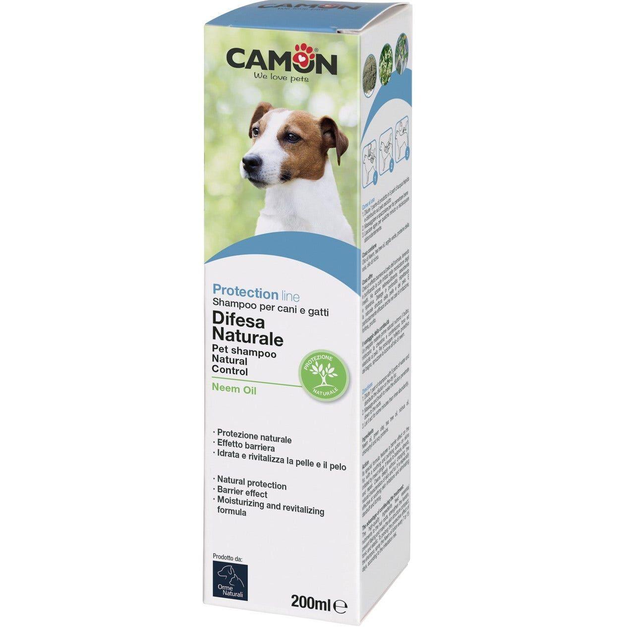 camon spa camon protection shampoo antiparassitario olio di neem cane 200ml