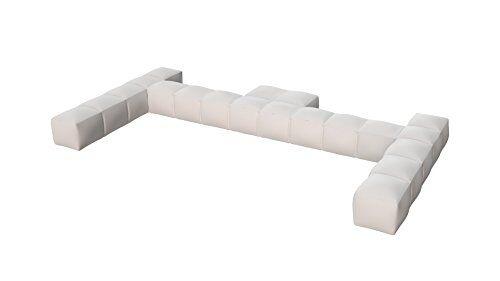 pigro felice 921989-mwhite modul'air luxury inflatable double top backrest piscina galleggianti, bianco opaco