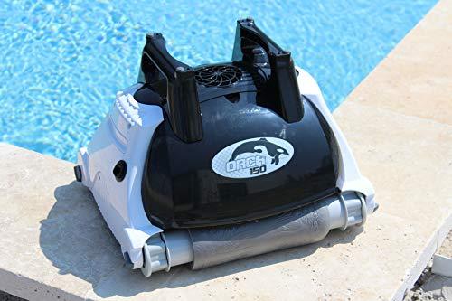 Orca 105998 - Robot pulitore automatico per piscina, fondo e parete O150, colore: Nero, Bianco