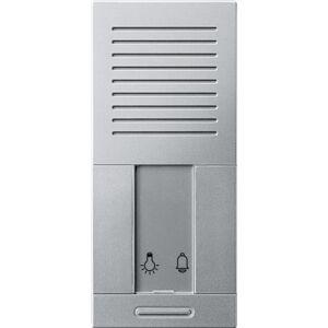 Merten 701560, Citofono da incasso con pulsante per illuminazione vano scale, alluminio