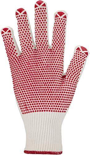 Asatex 36858Guanti lavorati a maglia fine con punto benoppung e lavorazione a maglia, Bianco/Verde, Taglia 8