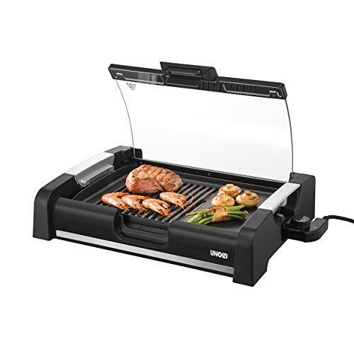 unold edel 1650 w barbecue elettrico da tavolo nero