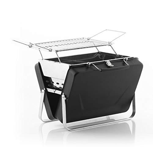innovagoods valigetta barbecue a carbone portatile e pieghevole handyq - picnic, nero