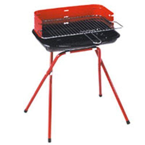 lapillo 57173 barbecue a carbone, rettangolare, verde