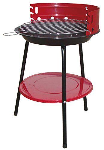 bcalpe 11935barbecue carbone, 36x 36x 7cm, colore: rosso/nero