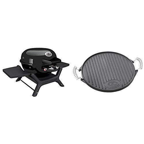 outdoorchef p-420 e barbecue elettrico minichef, nero & 18.211.58 griddle, plate, 420, 0.1x0.1x0.1 cm