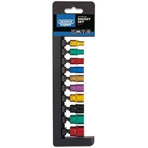 Draper B10M/6PT/C/E 1/10,2cm Square Drive Metric socket, colore blu, confezione da 10