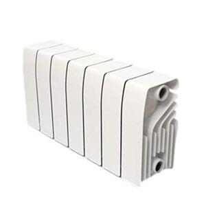 Baxi Radiatore in alluminio ad alta emissione termica a batteria, 5 elementi, serie Dubal 30, 14,7 x 40 x 28,8 centimetri (Riferimento: 194A10501), Bianco