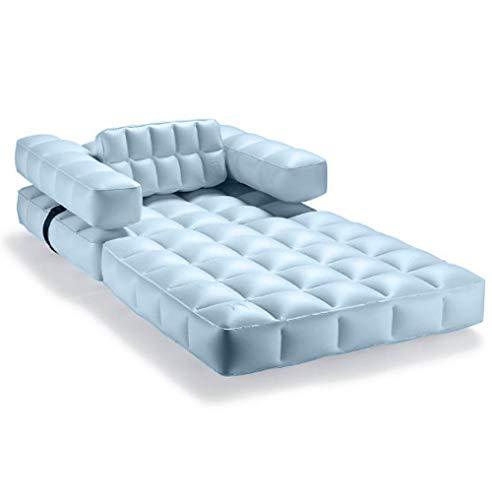 pigro felice - piscina modul'air 3-in-1 - lettino da sole gonfiabile - materasso galleggiante - pouf - materiali resistenti - lunga durata - premium - azur blu