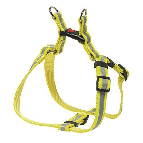 chapuis sellerie sla359 pettorina regolabile riflettente per cani - collare in similpelle giallo - larghezza 20 mm - lunghezza 40-60 cm - misura m
