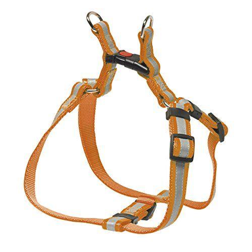 chapuis sellerie sla362 pettorina regolabile riflettente per cani - collare in similpelle arancione - larghezza 20 mm - lunghezza 40-60 cm - misura m