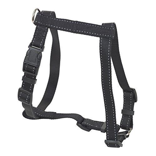 chapuis sellerie sla336 pettorina regolabile riflettente per cani - collare rinforzato in nylon nero - larghezza 25 mm - dimensioni 60-70 cm - misura l