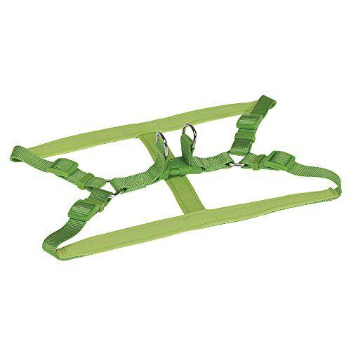 chapuis sellerie sla288 pettorina regolabile per cani - collare comfort in nylon verde - larghezza 20 mm - dimensioni 50-70 cm - misura l