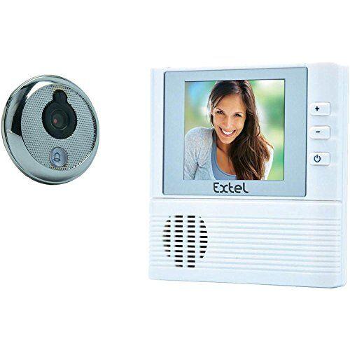 extel - videocitofonolilly con spioncino per porta, schermo a colori da 7 cm, 2,8''