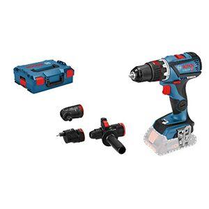 Bosch Professional 06019G7103 Trapano Avvitatore GSR 18V-60 C System, Flexi Click, 4 Accessori, Coppia: 60 NM,  Titi: 10 mm, Batterie e Caricabatteria Non incl, 18 V, Set di 4 Pezzi
