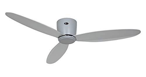 casafan 313285 - ventilatore per soffitti bassi eco piatto ii, grigio, 132 cm, fino a 25 m2, telecomando