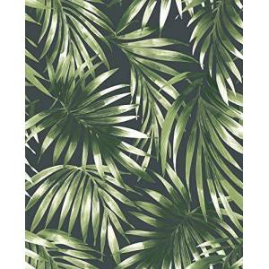 Superfresco Easy Green - Carta da parati con foglie eleganti tropicali