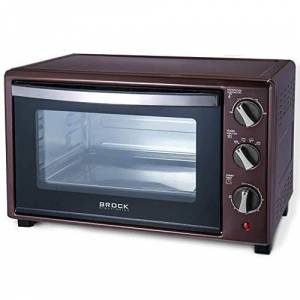 brock Electronics to-3001-p forno elettrico, 1500W, 30litri, Acciaio inossidabile, Bordeaux
