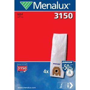 Menalux, 3150, Sacchetti Duraflow per aspirapolvere Miele Serie S7 -Electronic 7500, 4 pz.