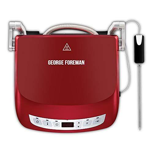 george foreman 24001-56 bistecchiera, rosso