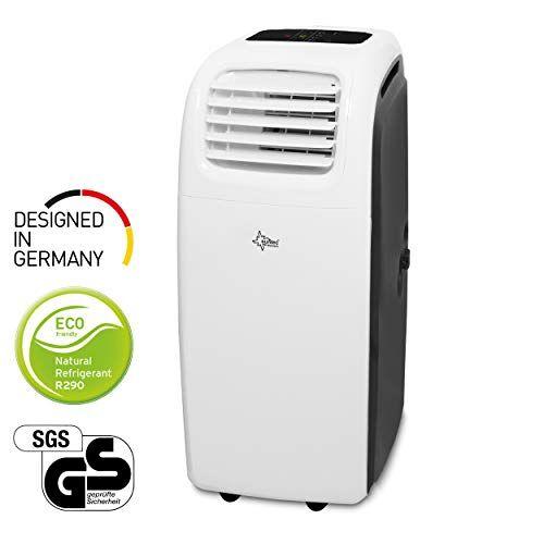 suntec wellness suntec condizionatore portatile transform 12000 eco r290, 6-in-1 climatizzatore locale: raffreddamento interno/esterno, riscaldamento, ventilatore, deumidificatore [classe di efficienza energetica a]