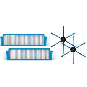 Philips FC8007/01 Kit Sostitutivo per Robot Aspirapolvere SmartPro Easy FC8792/01, Include 1 Coppia di Spazzole e 2 Filtri HEPA 12