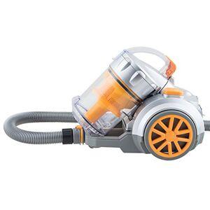H.Koenig TC34 Aspirapolvere a traino multiciclonico senza sacco classe A, 2,5L, Basso consumo + Accessori, Arancio