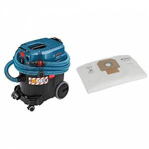 Bosch Professional 06019C31W0 - Aspiratore per acqua/polvere GAS 35 M AFC 1380 W + Sacchetto Vello Filtro Gas 35 2607432037