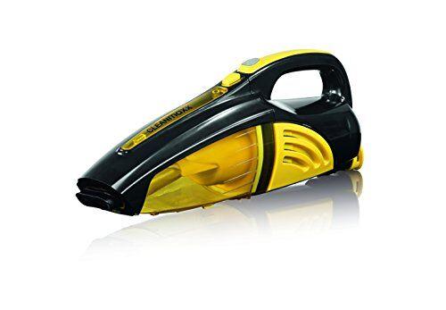 cleanmaxx 00973batteria di aspirapolvere a mano   bagnato e asciutto di aspirapolvere in un   senza fili grazie al 7,4v batteria   incluso diversi adattatori   ideale anche per auto   nero/giallo