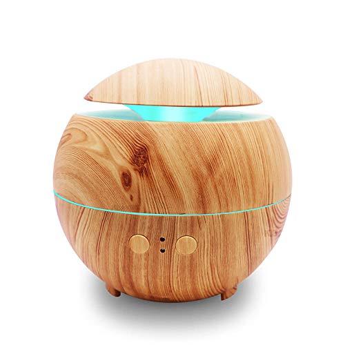 VGFTP Umidificatore a ultrasuoni per nebbia fredda, diffusore di olio essenziale di aroma di purificatore d'aria, luce notturna a LED a 7 colori per ufficio 600ml