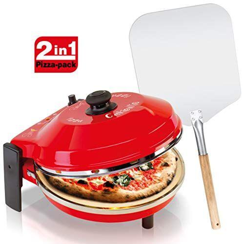 SPICE - Forno Pizza DIAVOLA e CALIENTE con pietra refrattaria 400 gradi Resistenza circolare (forno + pala)