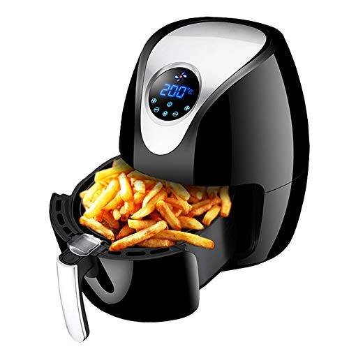 LELUN Power friggitrice, friggitrice olio forno portatile Free aria calda sanitaria friggitrice con teglia nero