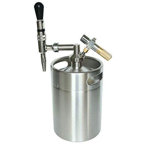 CASILE Spillatore Birra da casa Mini Barilotto in Acciaio Inox da 5L ruggente pressurizzato per birra alla spina da casa,13.5 * 35CM