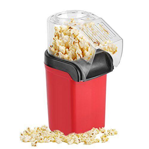 Aramox Macchina per Popcorn Hot-Air Popper ad Aria Calda Senza Grasso Olio Elettrico Sfoderabile 1200W