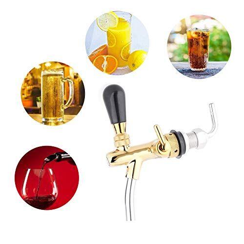 jectse g5 / 8 spillatori per birra,rubinetto per birra regolabile, acciaio inossidabile rubinetto della birra del rubinetto della birra rapido e facile da pulire (oro)