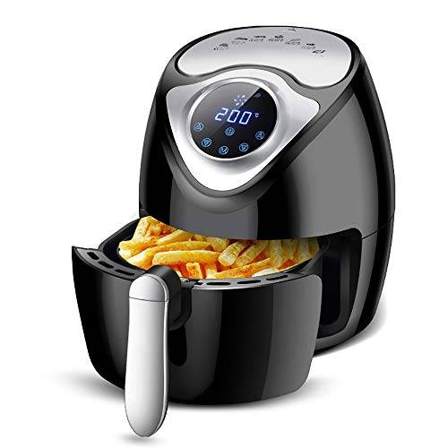 QETU Friggitrice aria Portata aria per uso domestico Fryer Lntelligent automatico antiaderente No nerofumo 2.6L Capacità