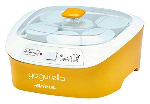 Ariete Yogurtiera Ariete YOGURELLA - 626 con 6 vasetti / 1 lt di Yogurt a ciclo - colore Giallo