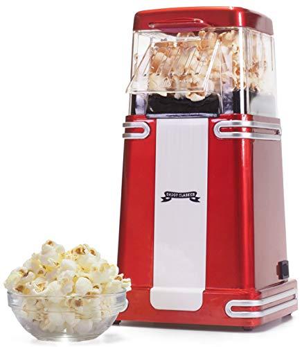 Gadgy ® Popcorn Machine   Retro Macchina Pop Corn Compatta   Aria Calda Senza Olio Grasso