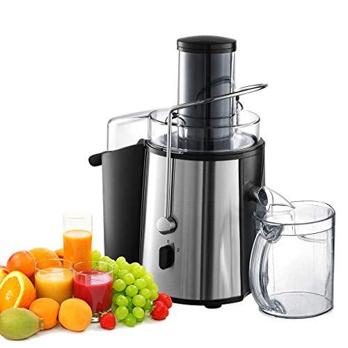 sotech - centrifuga frutta e verdura,estrattore di succo a freddo,estrattore di succo,centrifuga professionale,75mm bocca larga,850w, senza bpa,centrifuga in acciaio inox a doppia velocità