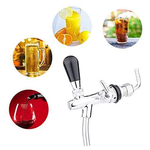 jectse g5 / 8 spillatori per birra,rubinetto per birra regolabile, acciaio inossidabile rubinetto della birra del rubinetto della birra rapido e facile da pulire (argento)