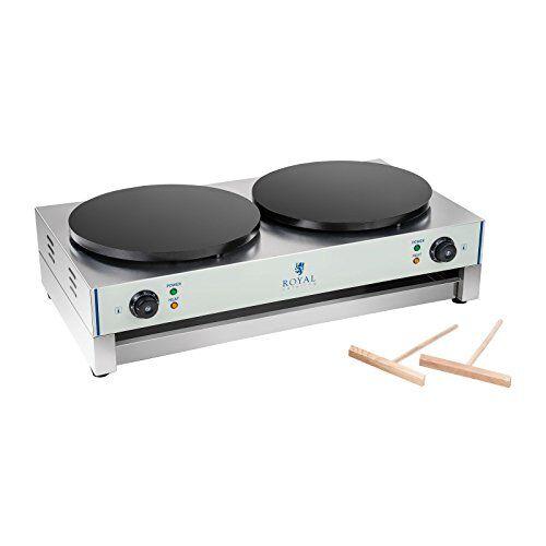 Royal Catering - RCEC-6000-E - Crepiera doppia elettrica - 2 x 3000 W