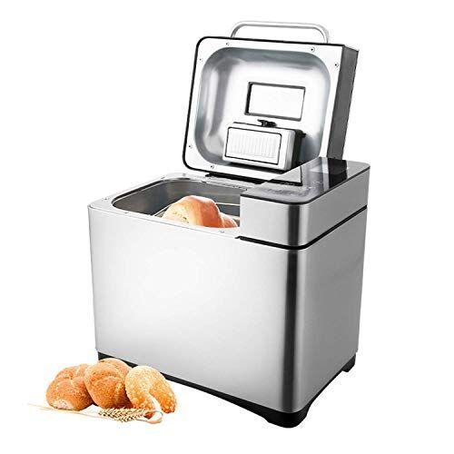 coocheer macchina per il pane con 19 programmi di cottura, 15 ore di funzione timer, con contenitore automatico per ingredienti e schermo led, 710 w argento