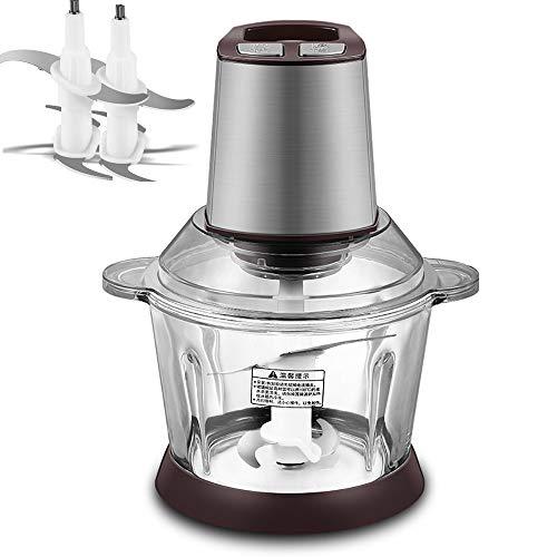 CUI XIA UK Meat grinder Casa e piccoli commerciali completamente automatici Molte caratteristiche Macinacaffè da 3 litri con grande capacità Impastatrice con peperoncino Chili Sauce Utensile da cucina Due file 400 watt 2 lam