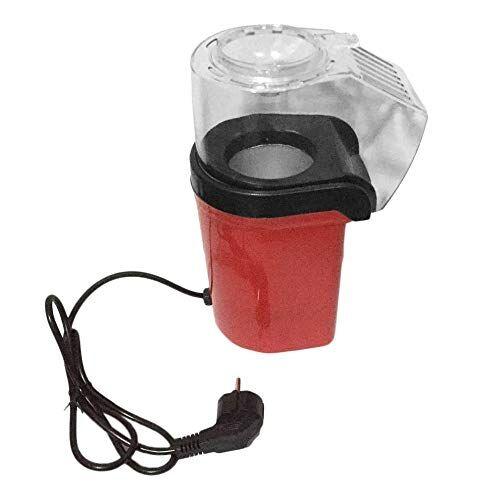 GSOLOYL Mini macchina for popcorn elettrica elettrica portatile for uso domestico Macchina for popcorn automatica Tipo di soffiaggio for popcorn Regalo for bambini Popper fai da te (Plug Type : EU)