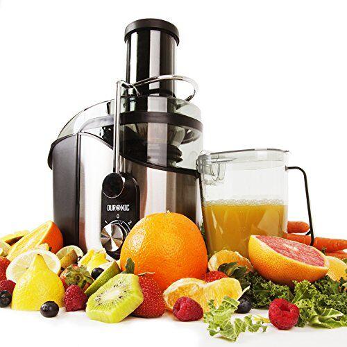 Duronic JE8 Centrifuga per frutta e verdura 800W per frutta intera tubo di inserimento 75mm 2 velocità becco anti-goccia contenitore polpa e caraffa per succhi centrifugati