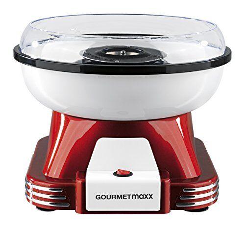 GOURMETmaxx 07329macchina per zucchero filato per casa   Ideale per Festa Di Compleanno Bambini   500àWatt   Colore: Rosso/Bianco