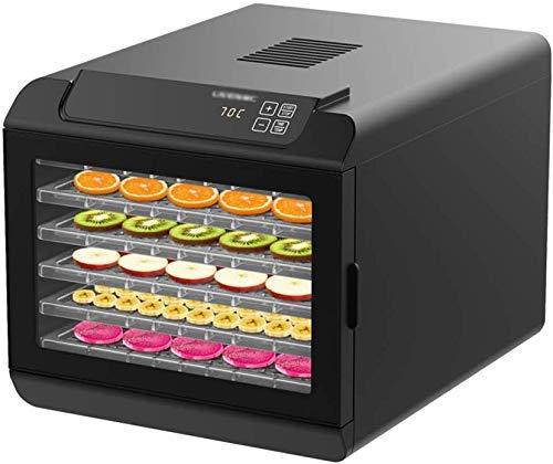 twgdh essiccatore con display touch digitale, macchina di frutta asciugatrice elettrica 6 tier manutentore cibo con controllo della temperatura regolabile 420w, nero btzhy