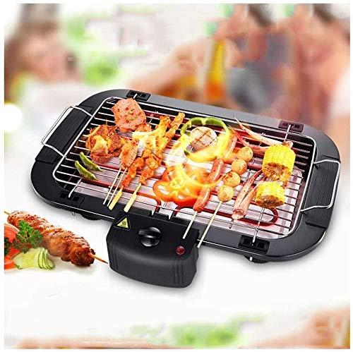 linannan elettronico griglia per barbecue portatile barbecue carbone mini tavolo da picnic da cucina con il fumo del partito campeggio fornello con griglia,nero
