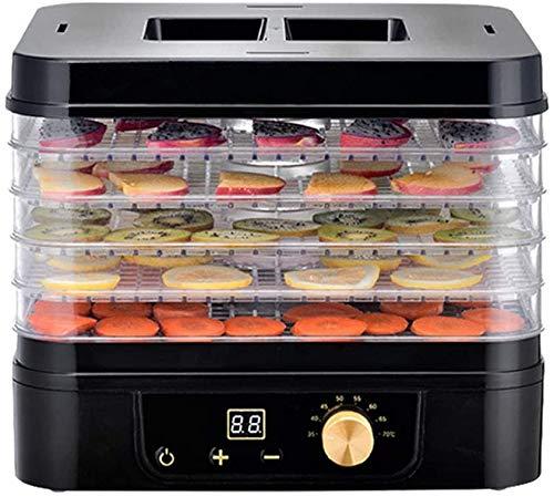 dhybdz essiccatore e disidratatore per alimenti con controllo digitale della temperatura e timer di ricircolo distribuzione del calore macchina per essiccare verdure a 5 livelli