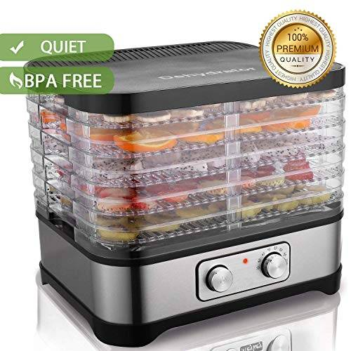 coocheer essiccatore frutta essiccatore alimentare disidratatore per alimenti,temperatura regolabile,5 vassoi,250 w
